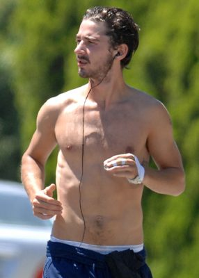 Shia LaBeouf takes his shirt off for a run near his home Pictured: Shia LaBeouf Ref: SPL112460 150709 Picture by: Richard Beetham / Splash News Splash News and Pictures Los Angeles:310-821-2666 New York:212-619-2666 London:870-934-2666 photodesk@splashnews.com